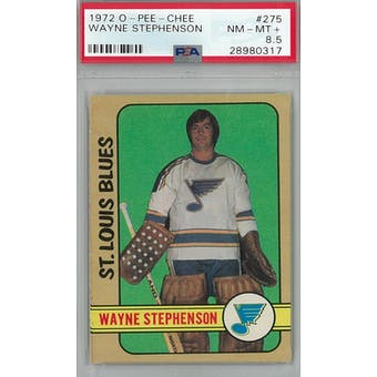 1972/73 O-Pee-Chee Hockey #275 Wayne Stephenson RC PSA 8.5 (NM-MT+) *0317 (Reed Buy)