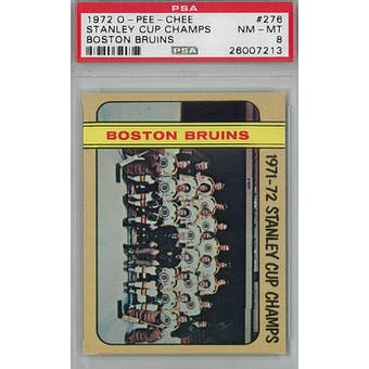 1972/73 O-Pee-Chee Hockey #276 Boston Bruins Stanley Cup Champs PSA 8 (NM-MT) *7213 (Reed Buy)