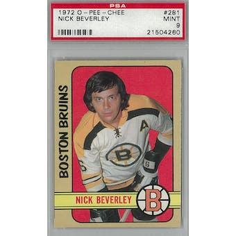1972/73 O-Pee-Chee Hockey #281 Nick Beverley PSA 9 (Mint) *4260 (Reed Buy)