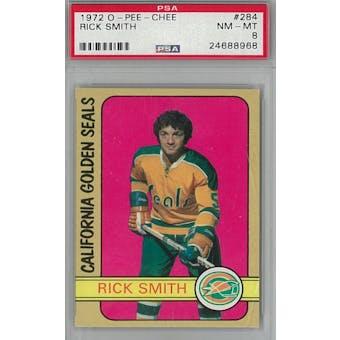 1972/73 O-Pee-Chee Hockey #284 Rick Smith PSA 8 (NM-MT) *8968 (Reed Buy)