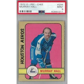 1972/73 O-Pee-Chee Hockey #294 Murray Hall PSA 9 (Mint) *0311 (Reed Buy)