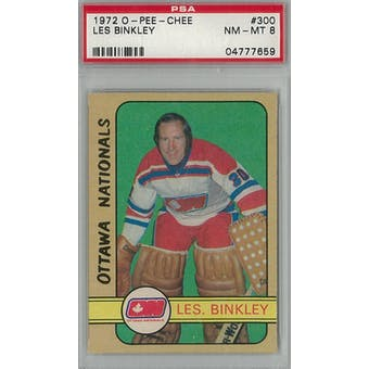 1972/73 O-Pee-Chee Hockey #300 Les Binkley PSA 8 (NM-MT) *7659 (Reed Buy)