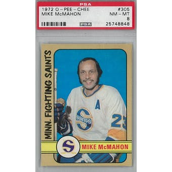 1972/73 O-Pee-Chee Hockey #305 Mike McMahon PSA 8 (NM-MT) *8848 (Reed Buy)