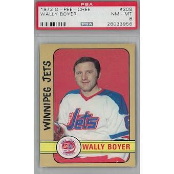 1972/73 O-Pee-Chee Hockey #308 Wally Boyer PSA 8 (NM-MT) *3956 (Reed Buy)