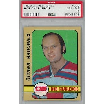 1972/73 O-Pee-Chee Hockey #309 Bob Charlebois RC PSA 8 (NM-MT) *8849 (Reed Buy)