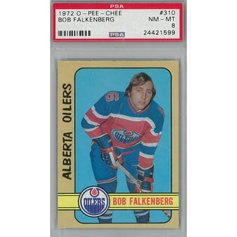 1972/73 O-Pee-Chee Hockey #310 Bob Falkenberg PSA 8 (NM-MT) *1599 (Reed Buy)