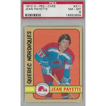 1972/73 O-Pee-Chee Hockey #311 Jean Payette RC PSA 8 (NM-MT) *0859 (Reed Buy)