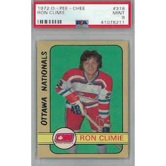 1972/73 O-Pee-Chee Hockey #318 Ron Climie RC PSA 9 (Mint) *8211 (Reed Buy)