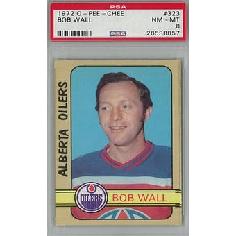 1972/73 O-Pee-Chee Hockey #323 Bob Wall PSA 8 (NM-MT) *8857 (Reed Buy)