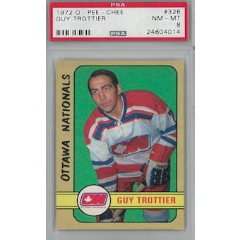 1972/73 O-Pee-Chee Hockey #326 Guy Trottier PSA 8 (NM-MT) *4014 (Reed Buy)