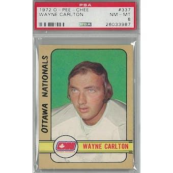 1972/73 O-Pee-Chee Hockey #337 Wayne Carlton PSA 8 (NM-MT) *3987 (Reed Buy)
