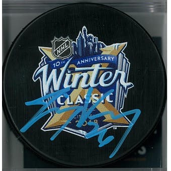 Jimmy Vesey Autographed 2018 Winter Classic Hockey Puck