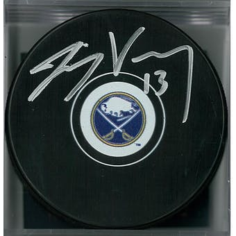 Jimmy Vesey Autographed Buffalo Sabres Hockey Puck