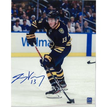 Jimmy Vesey Autographed Buffalo Sabres 8x10 Photo