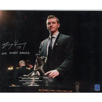 Jimmy Vesey Autographed Hobey Baker 8x10 Photo