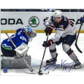 Jimmy Vesey Autographed Team USA 8x10 Photo