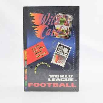 1992 Wild Card World League Football Hobby Box (Reed Buy)