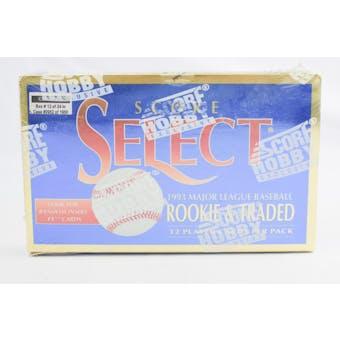 1993 Score Select Rookie & Traded Baseball Hobby Box (Reed Buy)