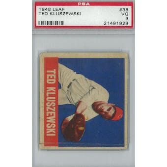 1948 Leaf Baseball #38 Ted Kluszewski RC PSA 3 (VG) *1929 (Reed Buy)