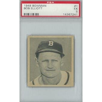 1948 Bowman Baseball #1 Bob Elliott RC PSA 5 (EX) *7241 (Reed Buy)