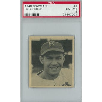 1948 Bowman Baseball #7 Pete Reiser PSA 6 (EX-MT) *7024 (Reed Buy)