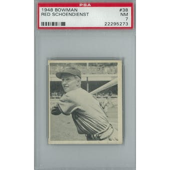 1948 Bowman Baseball #38 Red Schoendienst RC PSA 7 (NM) *5273 (Reed Buy)