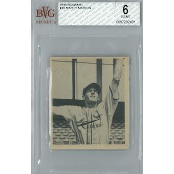 1948 Bowman Baseball #40 Marty Marion RC BVG 6 (EX-MT) *2431 (Reed Buy)