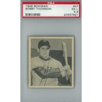 1948 Bowman Baseball #47 Bobby Thomson RC PSA 5.5 (EX+) *7821 (Reed Buy)