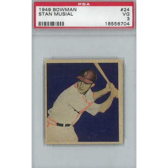 1949 Bowman Baseball #24 Stan Musial PSA 3 (VG) *6704 (Reed Buy)
