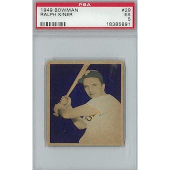 1949 Bowman Baseball #29 Ralph Kiner PSA 5 (EX) *5891 (Reed Buy)