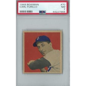 1949 Bowman Baseball #70 Carl Furillo RC PSA 7 (NM) *7968 (Reed Buy)