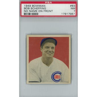 1949 Bowman Baseball #83 Bob Scheffing NNOF PSA 7 (NM) *7951 (Reed Buy)