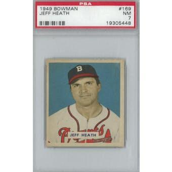 1949 Bowman Baseball #169 Jeff Heath PSA 7 (NM) *5448 (Reed Buy)