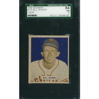 1949 Bowman Baseball #170 Bill Rigney SGC 84 (NM) *8026 (Reed Buy)