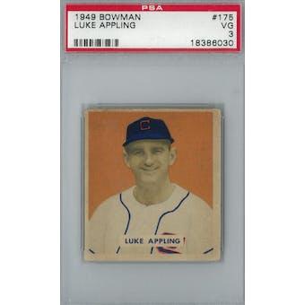 1949 Bowman Baseball #175 Luke Appling RC PSA 3 (VG) *6030 (Reed Buy)