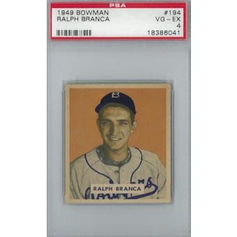 1949 Bowman Baseball #194 Ralph Branca RC PSA 4 (VG-EX) *6041 (Reed Buy)