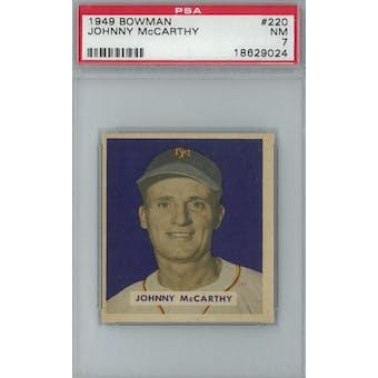 1949 Bowman Baseball #220 Johnny McCarthy PSA 7 (NM) *9024 (Reed Buy)