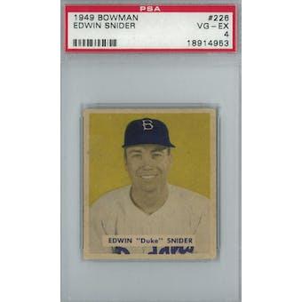 1949 Bowman Baseball #226 Duke Snider RC PSA 4 (VG-EX) *4953 (Reed Buy)