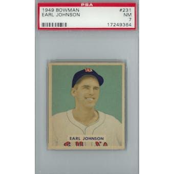 1949 Bowman Baseball #231 Earl Johnson PSA 7 (NM) *9364 (Reed Buy)