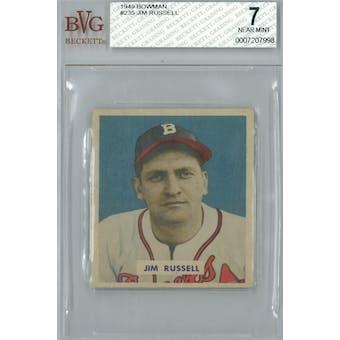 1949 Bowman Baseball #235 Jim Russell BVG 7 (NM) *7998 (Reed Buy)