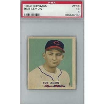 1949 Bowman Baseball #238 Bob Lemon RC PSA 5 (EX) *6709 (Reed Buy)