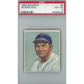 1950 Bowman Baseball #8 George Kell PSA 4 (VG-EX) *6063 (Reed Buy)