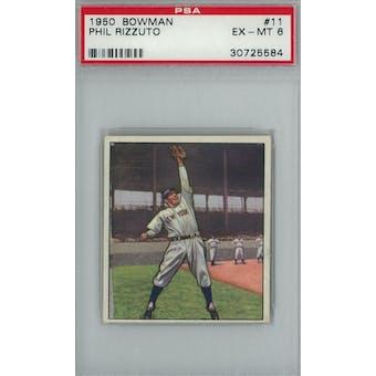 1950 Bowman Baseball #11 Phil Rizzuto PSA 6 (EX-MT) *5584 (Reed Buy)