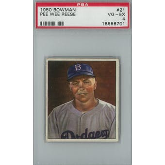1950 Bowman Baseball #21 Pee Wee Reese PSA 4 (VG-EX) *6701 (Reed Buy)