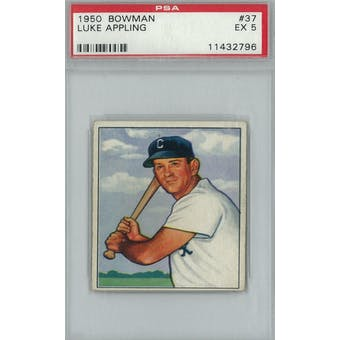 1950 Bowman Baseball #37 Luke Appling PSA 5 (EX) *2796 (Reed Buy)
