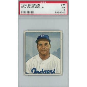 1950 Bowman Baseball #75 Roy Campanella PSA 5 (EX) *6703 (Reed Buy)