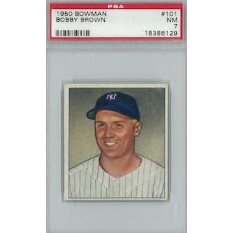 1950 Bowman Baseball #101 Bobby Brown PSA 7 (NM) *6129 (Reed Buy)