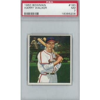 1950 Bowman Baseball #180 Harry Walker PSA 7 (NM) *6206 (Reed Buy)