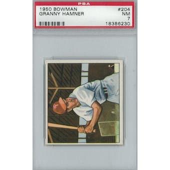 1950 Bowman Baseball #204 Granny Hamner PSA 7 (NM) *6230 (Reed Buy)