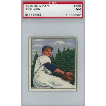1950 Bowman Baseball #236 Bob Cain PSA 7 (NM) *6262 (Reed Buy)